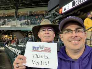 Tim attended Colorado Rockies vs. San Francisco Giants - MLB on May 7th 2019 via VetTix