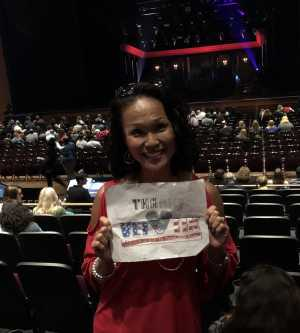 Chin attended Cruel Intentions - The 90's Musical on May 1st 2019 via VetTix