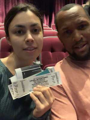 Sophia attended Cruel Intentions - The 90's Musical on May 1st 2019 via VetTix