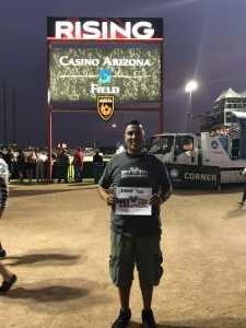 Luis Ortiz attended Phoenix Rising vs. El Paso Locomotive - USL on Aug 10th 2019 via VetTix