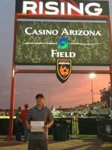 Tanner attended Phoenix Rising vs. El Paso Locomotive - USL on Aug 10th 2019 via VetTix