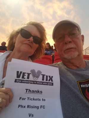 Ronald attended Phoenix Rising vs. El Paso Locomotive - USL on Aug 10th 2019 via VetTix