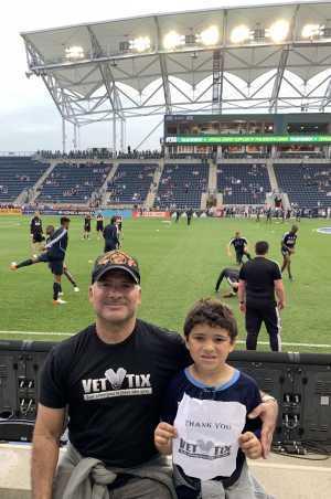Harold A attended Philadelphia Union vs New England Revolution - MLS on May 4th 2019 via VetTix
