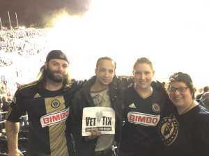 Tania attended Philadelphia Union vs New England Revolution - MLS on May 4th 2019 via VetTix