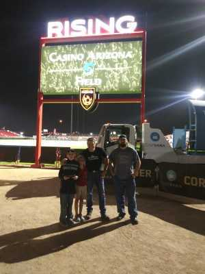 Zachary attended Phoenix Rising FC vs. Rio Grande Valley FC - USL on May 10th 2019 via VetTix