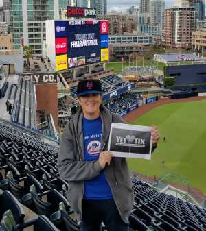 NANCY attended San Diego Padres vs. New York Mets - MLB on May 6th 2019 via VetTix
