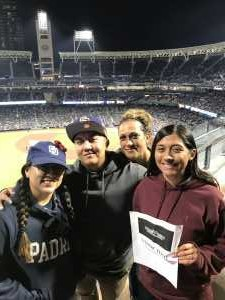 Garza Family attended San Diego Padres vs. New York Mets - MLB on May 6th 2019 via VetTix