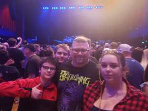 Christopher attended An Evening With Shinedown - Pop on May 7th 2019 via VetTix