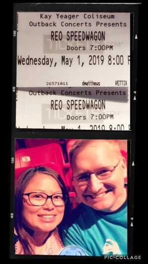 Garry attended REO Speedwagon on May 1st 2019 via VetTix