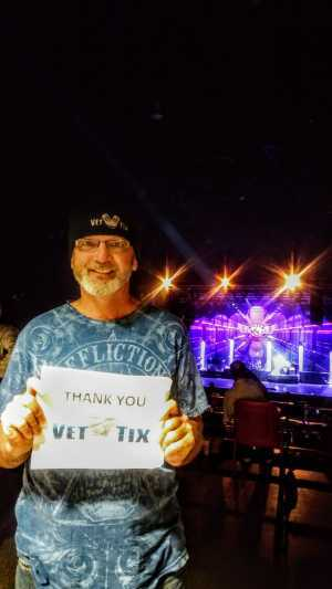 Bryon attended REO Speedwagon on May 1st 2019 via VetTix