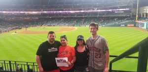 Johnathan Butler attended Houston Astros vs. Cleveland Indians - MLB on Apr 28th 2019 via VetTix