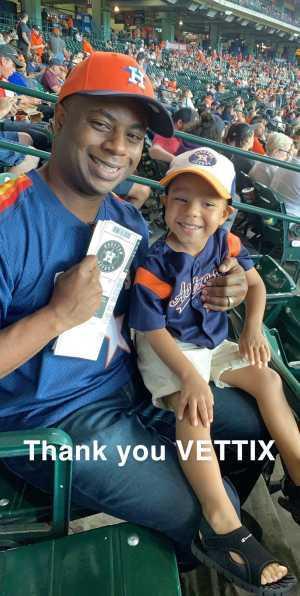 Cornelious attended Houston Astros vs. Cleveland Indians - MLB on Apr 28th 2019 via VetTix