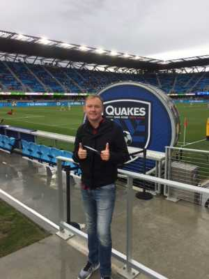Sean attended San Jose Earthquakes vs. Chicago Fire - MLS on May 18th 2019 via VetTix
