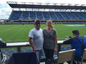 Denise attended San Jose Earthquakes vs. Chicago Fire - MLS on May 18th 2019 via VetTix