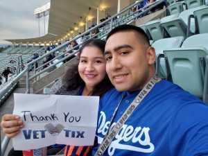 Jennifer attended Los Angeles Dodgers vs. Washington Nationals - MLB on May 10th 2019 via VetTix