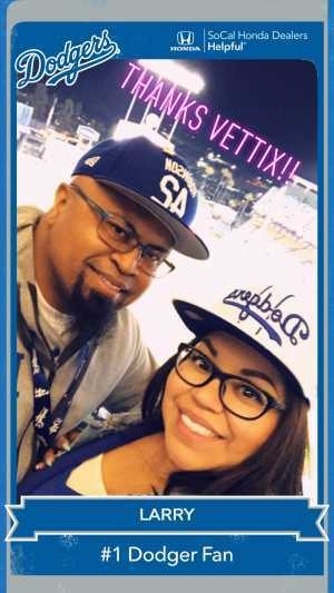 Larry attended Los Angeles Dodgers vs. Washington Nationals - MLB on May 10th 2019 via VetTix