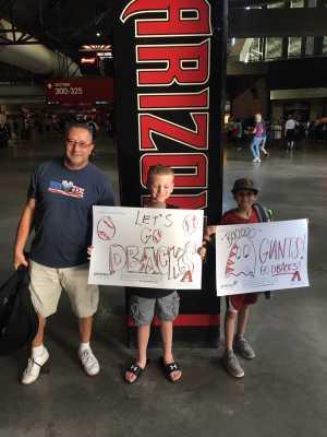 Louis attended Arizona Diamondbacks vs. San Francisco Giants - MLB on May 18th 2019 via VetTix