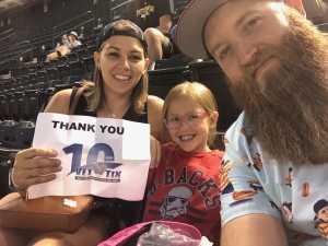 Jenna attended Arizona Diamondbacks vs. San Francisco Giants - MLB on May 18th 2019 via VetTix