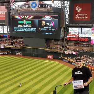Steve attended Arizona Diamondbacks vs. San Francisco Giants - MLB on May 18th 2019 via VetTix