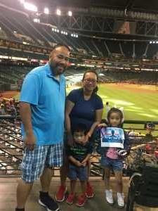 Jerome attended Arizona Diamondbacks vs. San Francisco Giants - MLB on May 18th 2019 via VetTix