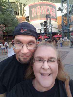 Amelia attended Arizona Diamondbacks vs. San Francisco Giants - MLB on May 18th 2019 via VetTix