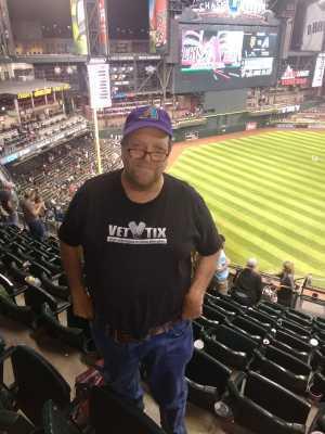 James attended Arizona Diamondbacks vs. San Francisco Giants - MLB on May 18th 2019 via VetTix