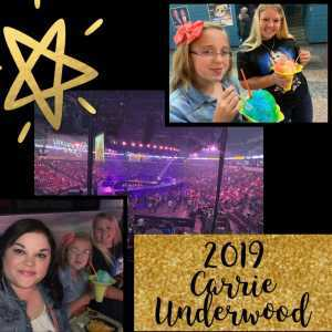 Lewis attended Carrie Underwood: the Cry Pretty Tour 360 on May 18th 2019 via VetTix