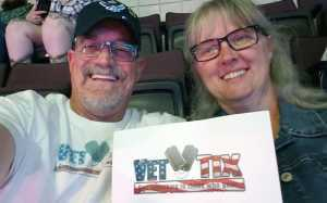 Paul attended Carrie Underwood: the Cry Pretty Tour 360 on May 18th 2019 via VetTix