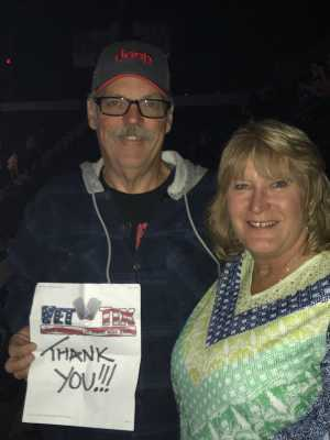 Dennis attended Carrie Underwood: the Cry Pretty Tour 360 on May 18th 2019 via VetTix