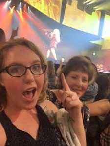Audra attended Carrie Underwood: the Cry Pretty Tour 360 on May 18th 2019 via VetTix