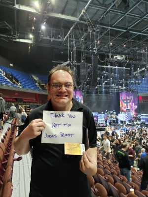 John attended Judas Priest - Firepower 2019 -*See Notes on May 16th 2019 via VetTix