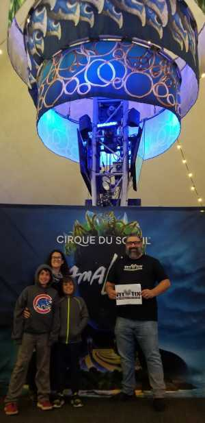Eliot attended Cirque Du Soleil Amaluna on May 11th 2019 via VetTix