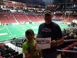 Price attended Iowa Barnstormers vs. Bismark Bucks - IFL - Military Appreciation Night! on May 24th 2019 via VetTix