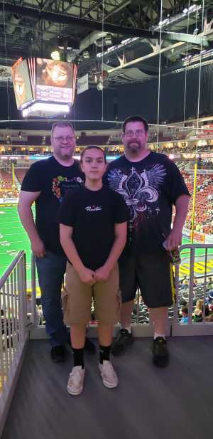 Patrick  attended Iowa Barnstormers vs. Bismark Bucks - IFL - Military Appreciation Night! on May 24th 2019 via VetTix