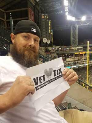 Joshua attended Arizona Diamondbacks vs. Pittsburgh Pirates - MLB on May 13th 2019 via VetTix