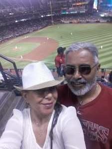 Ricardo  attended Arizona Diamondbacks vs. Pittsburgh Pirates - MLB on May 13th 2019 via VetTix