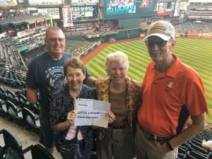 Frank attended Arizona Diamondbacks vs. Pittsburgh Pirates - MLB on May 13th 2019 via VetTix