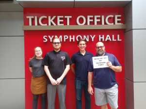 Bo attended Mozart and Brahms on May 12th 2019 via VetTix