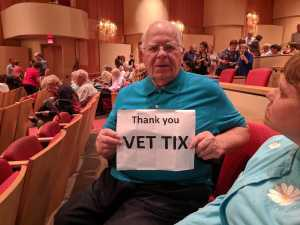 Leslie attended Mozart and Brahms on May 12th 2019 via VetTix