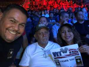 Edith attended Top Rank Boxing: Berchelt vs. Vargas 2 on May 11th 2019 via VetTix