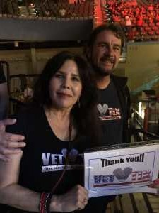 Sylvia and Shawn attended Top Rank Boxing: Berchelt vs. Vargas 2 on May 11th 2019 via VetTix