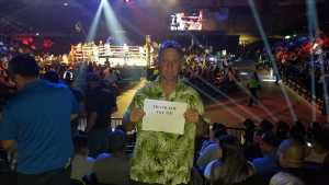 Brian attended Top Rank Boxing: Berchelt vs. Vargas 2 on May 11th 2019 via VetTix