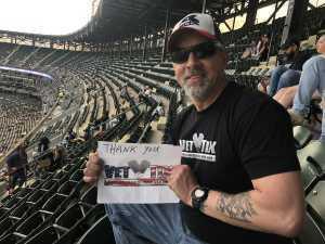 Jeffrey attended Chicago White Sox vs. Toronto Blue Jays - MLB on May 16th 2019 via VetTix