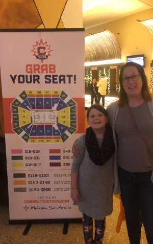 Bonnie attended Connecticut Sun vs. Washington Mystics - Home Opener - WNBA - Basketball on Jun 11th 2019 via VetTix