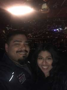 Abel attended Pentatonix: the World Tour With Special Guest Rachel Platten - Pop on May 14th 2019 via VetTix