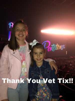 Christopher attended Pentatonix: the World Tour With Special Guest Rachel Platten - Pop on May 14th 2019 via VetTix