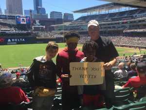 Kenneth attended Minnesota Twins vs. Seattle Mariners - MLB Etix 06/13/2019 on Jun 13th 2019 via VetTix