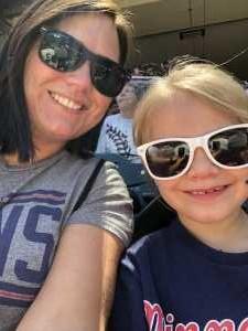 Alesha  attended Minnesota Twins vs. Seattle Mariners - MLB Etix 06/13/2019 on Jun 13th 2019 via VetTix