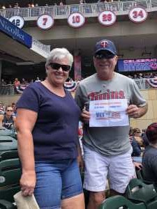 Denny attended Minnesota Twins vs. Kansas City Royals - MLB on Jun 16th 2019 via VetTix