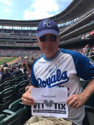 Kevin: OK and MO ARNG veteran attended Minnesota Twins vs. Kansas City Royals - MLB on Jun 16th 2019 via VetTix